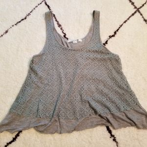 Forever 21 Boho Lace Top Small